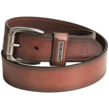 Carhartt Plaque Keeper Leather Belt (For Men) in Brown - Closeouts