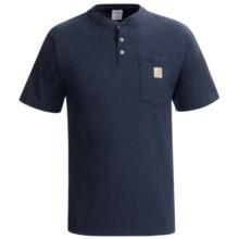 Carhartt Pocket Henley Shirt - Short Sleeve (For Tall Men) in Navy - 2nds