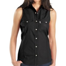 Carhartt Poplin Snap-Front Shirt - Sleeveless (For Women) in Black - 2nds