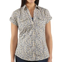 Carhartt Printed Camp Shirt - Short Sleeve (For Women) in Patriot Blue - 2nds