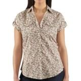 Carhartt Printed Camp Shirt - Short Sleeve (For Women)