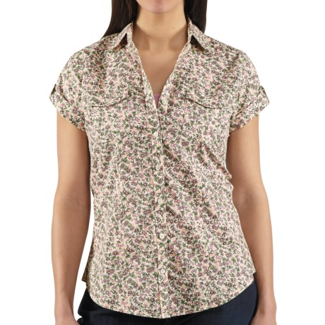 Carhartt Printed Camp Shirt - Short Sleeve (For Women) in Peony
