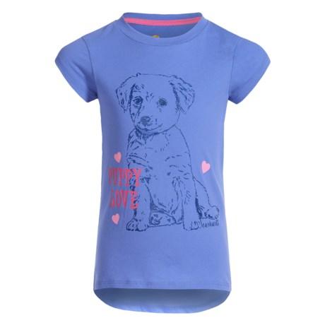 Carhartt Puppy Love T-Shirt - Short Sleeve (For Little Girls) in Light Blue