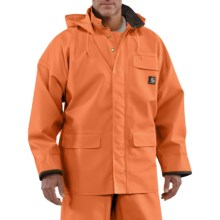 Carhartt PVC Coated Polyester Rain Coat - Waterproof (For Men) in Orange - 2nds
