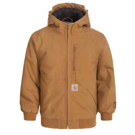 Carhartt Quick Duck® Jacket - Quilted Lining (For Little Boys) in Brown - Closeouts