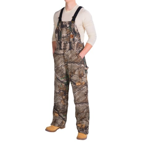 Carhartt Quilt Lined Camo Bib Overalls (For Men)