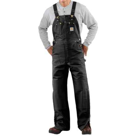 Carhartt Quilt-Lined Duck Bib Overalls - Factory Seconds (For Men) in Black - 2nds