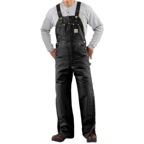 Carhartt Quilt-Lined Duck Bib Overalls - Factory Seconds (For Men) in Black