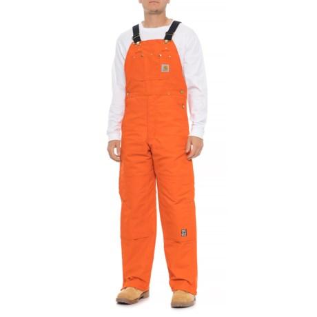 d1fa99ba92f Carhartt Quilt-Lined Duck Bib Overalls - Factory Seconds (For Men) in Blaze