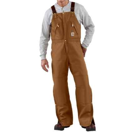 Carhartt Quilt-Lined Duck Bib Overalls - Factory Seconds (For Men) in Carhartt Brown - 2nds