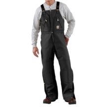 Carhartt Quilt-Lined Duck Bib Overalls (for Men) in Black - 2nds