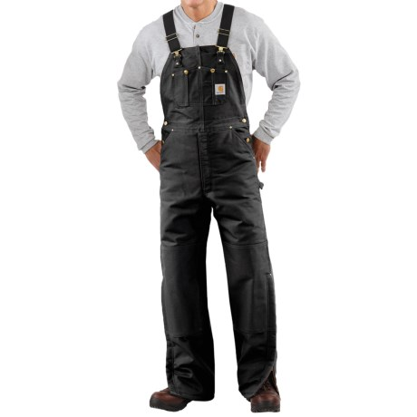Carhartt Quilt-Lined Duck Bib Overalls (For Men) in Carhartt Brown