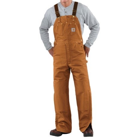 Carhartt Quilt-Lined Duck Bib Overalls (For Men) in Black