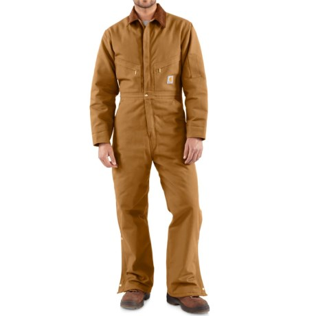 Carhartt Quilt Lined Duck Coveralls (For Men) in Carhartt Brown