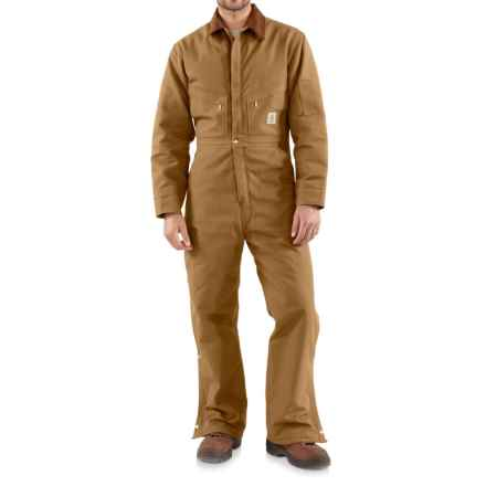 Carhartt Quilt-Lined Duck Coveralls - Insulated (For Men) in Carhartt Brown - Closeouts