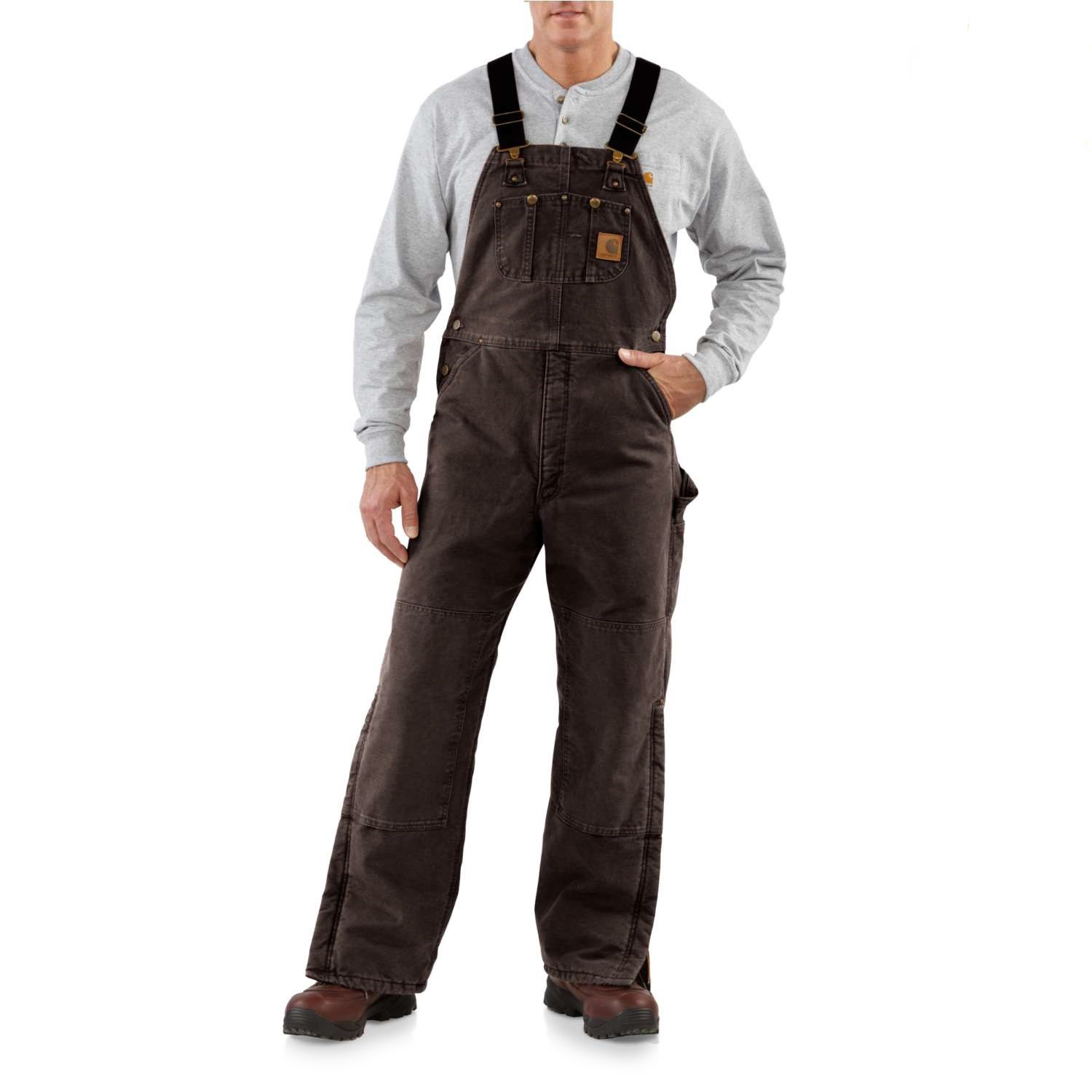 autumn shoes real quality wide selection of colors Carhartt Quilt-Lined Sandstone Bib Overalls (For Men)