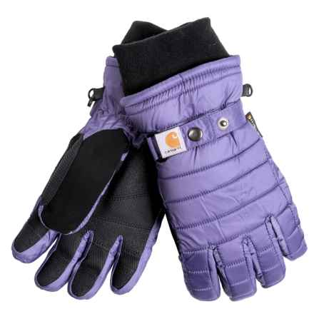 Carhartt Quilted Dri-Max® Gloves - Waterproof, Insulated (For Women) in Blue Dusk - Closeouts