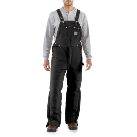 60dac1831f466 Carhartt R03 Arctic Duck Bib Overalls - Quilt-Lined, Factory Seconds (For  Men