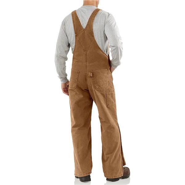 6003207e474 Carhartt R27 Quilt-Lined Bib Overalls - Sandstone Duck, Factory Seconds  (For Men)