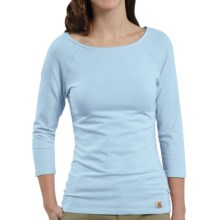 Carhartt Raglan T-Shirt - 3/4 Sleeve (For Women) in Coastal Blue - Closeouts