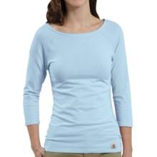 Carhartt Raglan T-Shirt - 3/4 Sleeve (For Women) in Coastal Blue - Closeouts