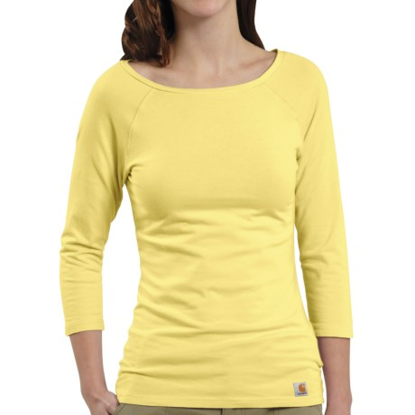Carhartt Raglan T-Shirt - 3/4 Sleeve (For Women) in Lemonade