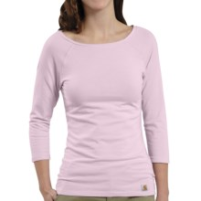 Carhartt Raglan T-Shirt - 3/4 Sleeve (For Women) in Light Orchid - Closeouts