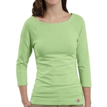 Carhartt Raglan T-Shirt - 3/4 Sleeve (For Women) in Seafoam - Closeouts