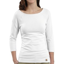 Carhartt Raglan T-Shirt - 3/4 Sleeve (For Women) in White - Closeouts