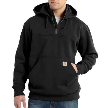 Carhartt Rain Defender® Paxton Hoodie - Zip Neck, Factory Seconds (For Big and Tall Men) in Black - 2nds