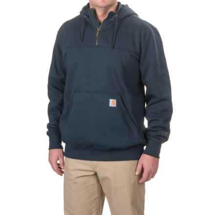 Carhartt Rain Defender® Paxton Hoodie - Zip Neck, Factory Seconds (For Big and Tall Men) in New Navy - 2nds