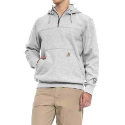 Carhartt Rain Defender® Paxton Hoodie - Zip Neck, Factory Seconds (For Men) in Heather Gray - 2nds