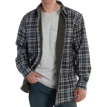 Carhartt Rain Defender Youngstown Flannel Shirt Jacket (For Big and Tall Men) in Navy - Closeouts
