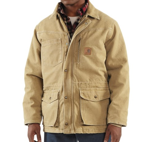Carhartt Rancher Sandstone Coat - Insulated (For Men) in Frontier Brown