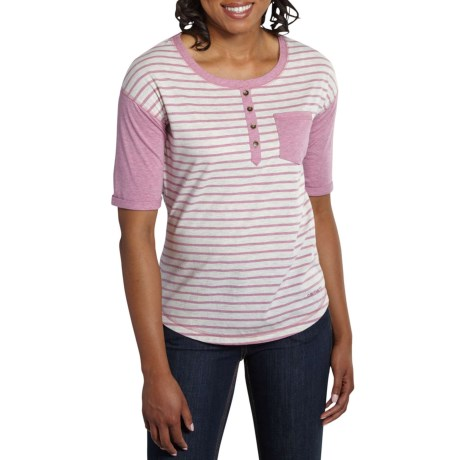 2c8e6039 Carhartt Reagan Knit Henley Shirt - Short Sleeve (For Women) in Lilas  Heather