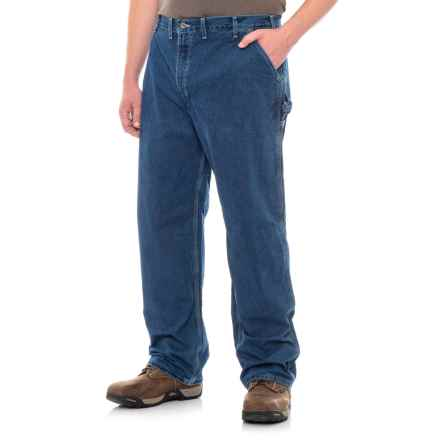 Carhartt Regular Fit Flannel-Lined Denim Jeans (for Men) in Dark Stone Wash - 2nds