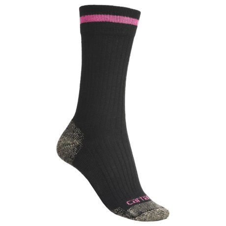Carhartt reinforced Toe Socks - Lightweight, Crew (For Women) in Black