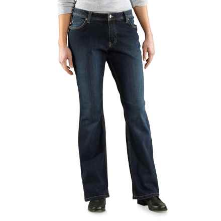 Carhartt Relaxed Fit Jasper Jeans - Bootcut, Factory Seconds (For Women) in True Indigo - 2nds