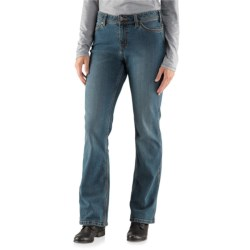 Carhartt Relaxed Fit Jasper Jeans - Mid-Rise, Bootcut (For Women) in Washed Indigo