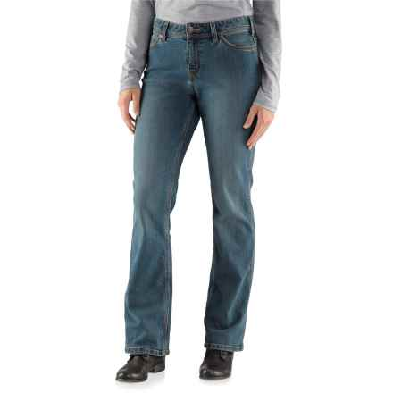 Carhartt Relaxed Fit Jasper Jeans - Mid-Rise, Bootcut (For Women) in Washed Indigo - 2nds