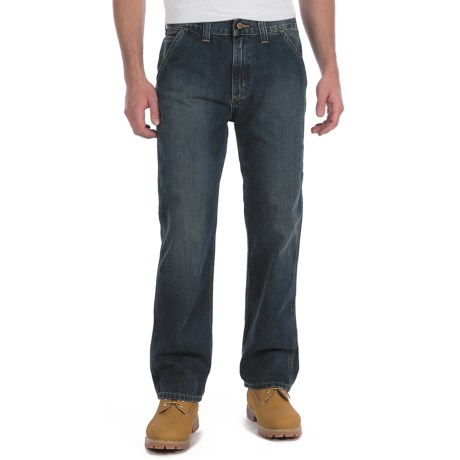 Carhartt Relaxed Fit Jeans - Dungarees, Straight Leg (For Men) in Dark Worn In Blue