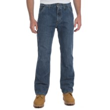 Carhartt Relaxed Fit Jeans - Dungarees, Straight Leg (For Men) in Light Worn In Blue - 2nds