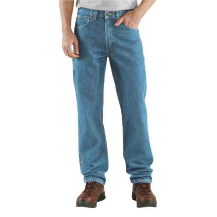 Carhartt Relaxed Fit Jeans - Factory Seconds (For Big and Tall Men) in Dark Stone Wash - 2nds
