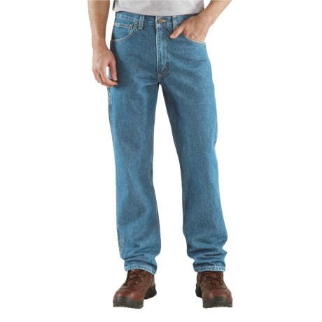 Carhartt Relaxed Fit Jeans - Factory Seconds (For Big and Tall Men) in Dark Stone Wash