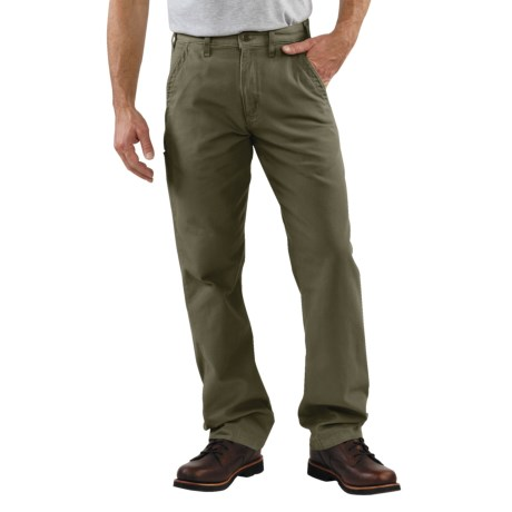 Carhartt Relaxed Fit Khaki Pants - Canvas (For Men) in Moss