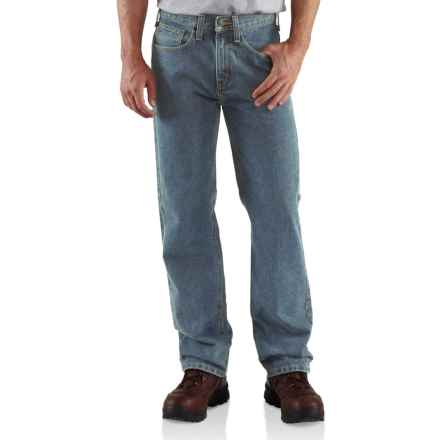 Carhartt Relaxed Fit Work Jeans (For Men) in Light Vintage Blue - Closeouts