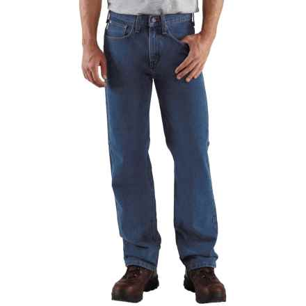 Carhartt Relaxed Fit Work Jeans - Straight Leg, Factory Seconds (For Men) in Dark Vintage Blue - 2nds