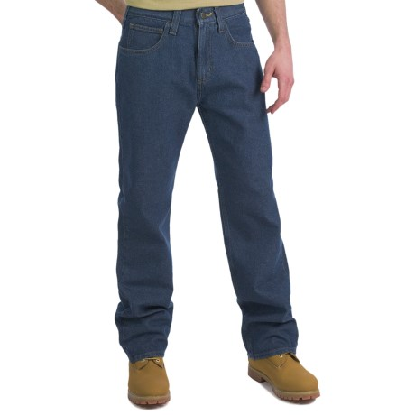 Carhartt Relaxed Fit Work Jeans - Straight Leg (For Men) in Light Classic Wash