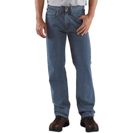 Carhartt Relaxed Fit Work Jeans - Straight Leg (For Men) in Light Vintage Blue
