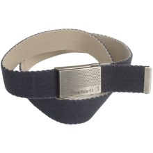 Carhartt Reversible Cotton Web Belt (For Men) in Navy/Bone - Closeouts